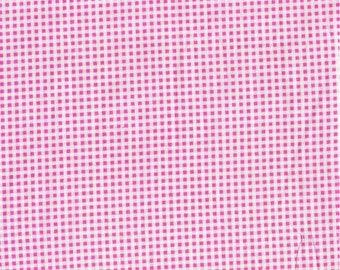 Tissu coton vichy rose et blanc pour loisirs créatifs