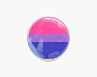 """1.5"""" Bisexual Button Bisexual Pride Button Bisexual Flag Button Bisexual Flag Pride Queer Pride Button Gay Pride Button LGBTQA LGBT"""