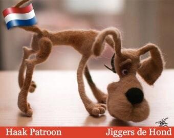 164NLY  Haak patroon - Jiggers de hond - Amigurumi soft toy PDF file by Pertseva Etsy