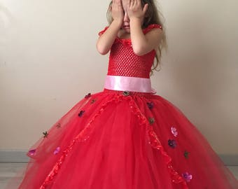 Tutu elena d'avalor / tutu dress Elena 4, 6 years