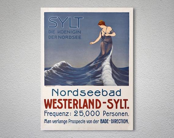 Nordseebad Westerland - Sylt, Deutschland Vintage Travel Poster