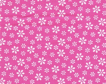 Pink Floral Fabric, Windham Fabrics,  Fabric by the Yard,  Quilt Fabric, Bright Pink Fabric