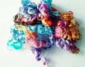 Teeswater Locks - Curls - Hand Dyed Locks - Spinning - Doll Hair - Felting - Wool Locks - Troll Hair - Locks - Lockspun - Easter Cookies