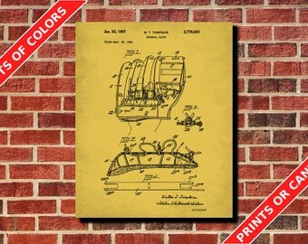 Sports blueprint etsy baseball patent print design sports blueprint poster man cave wall art home decor malvernweather Choice Image