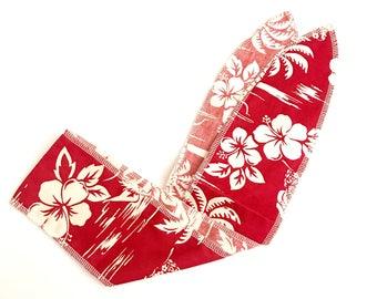 Red hawaiian rockabilly hair wrap