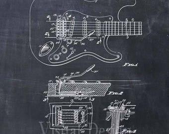 Fender Guitar Pickups Patent Print Art Print Patent Poster