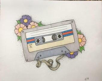 Original Cassette Illustration