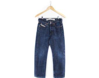 Diesel Pants, Denim pants, Vintage Diesel pants, Diesel jeans , Dark blue jeans, Denim Trousers, High waist pants , Tapered leg /SMALL W26