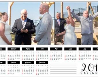 2018 Custom Photo Wall Calendar Poster Personalized 2018 Wall Calendar Custom Photo Planner Car Calendar Pet Calendar Wedding Calendar 16x24