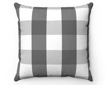 Charcoal Buffalo Check Pillow With Insert