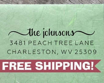 Custom Return Address Stamp, Johnsons Stamp, ECO-FRIENDLY Self-Inking Address Stamps, Housewarming Gift