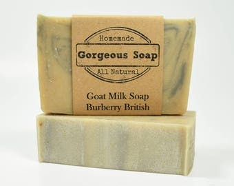 Burberry British Goat Milk Soap - All Natural Soap, Handmade Soap, Homemade Soap, Handcrafted Soap