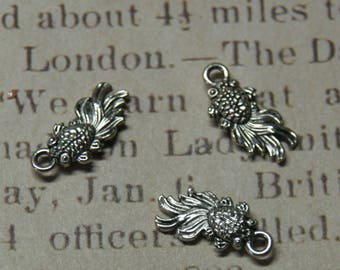 3 charms metal Japanese fish silver 18 x 8, 5mm