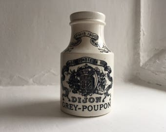 Large Antique French Dijon Grey Poupon Mustard Pot 1880's Paris