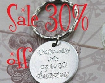 Sale 30% off Customised keychain, personalised keyring, personalised keychain, personalized gift, name keychain, round keychain, Great Gift