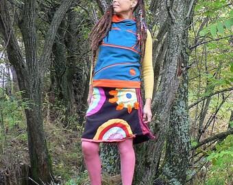 colorful fleece winter skirt