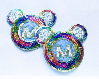 Mickey Mouse Head Sequin Pasties / Nipple Cover / Laughing with Tears for Rave / Music Festival