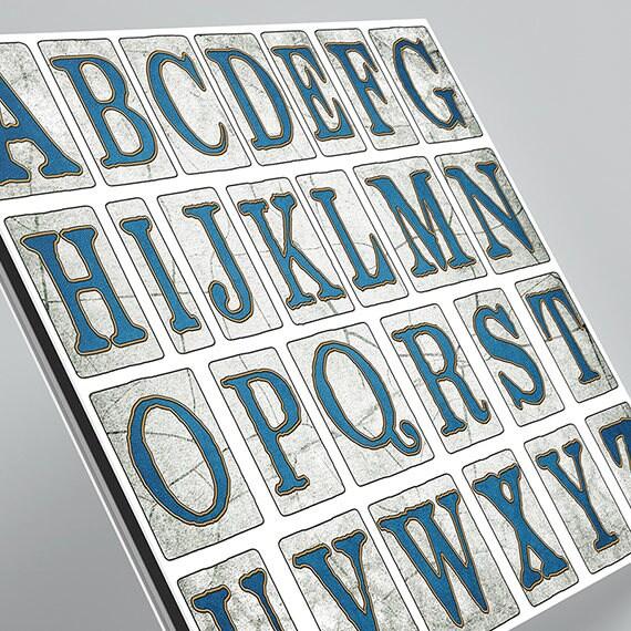 New Orleans Street Tiles Digital Alphabet Scrapbook