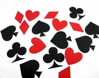 Poker Night Confetti, Alice in Wonderland, Casino Decor, Poker Night Decorations, Playing Cards, Casino Party, Poker Party Decorations