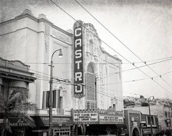 Castro Theatre, San Francisco, California Photography, Black and White, Travel Decor, Fine Art Print, Wall Art