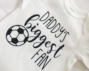 Daddy Biggest Fan. Soccer Sister. Soccer Fan. Soccer Baby. Baby Girl. Baby Boy. Soccer Outfit. Baby Girl Soccer. Baby Boy Soccer.