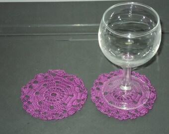 SET of 6 DOILIES or coasters handmade crochet