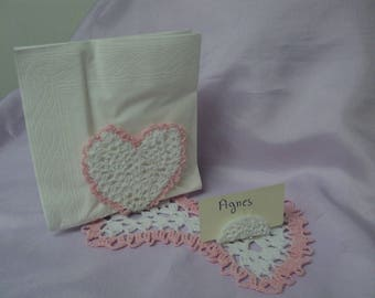 Mark up for wedding heart crocheted ref:U14 - I30