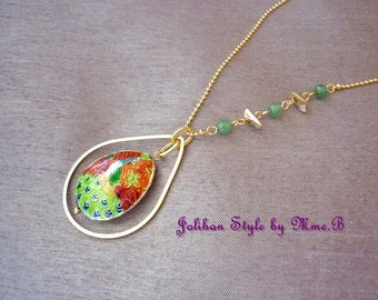 """Peacock & Passion"" - Golden Peacock pendant necklace gold necklace"