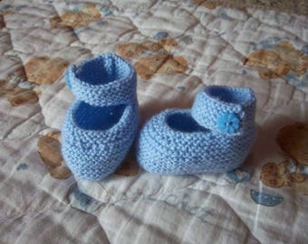 Birthstone (blue) wool slippers