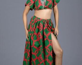 Custom African Print Dress