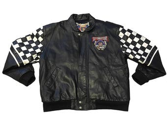 Vintage Nascar 50th Anniversary Leather Jacket