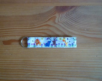 Key ring, African animals on white background