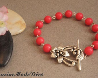 Pink resin Beads Bracelet