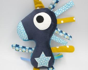 Plush Unicorn blue and yellow