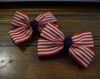 Hair clip pairs double knot