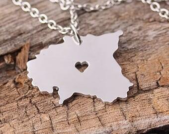 I heart Estonia Necklace - Estonia Pendant - Estonia Map Charm - Estonia Map necklace - Map Jewelry