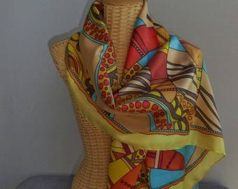 Scarf silk patterns boomerangs@evysoie shawl