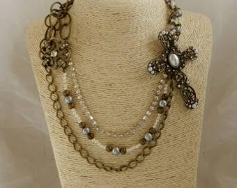 Inspirational Cross Necklace