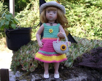 outfit 3 piece crochet cat doll