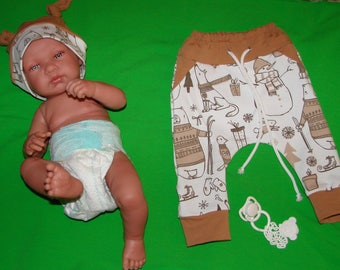 Dress pants, harem pants and matching baby Hat
