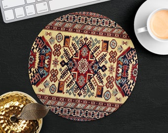 Mouse Pad Antique Rug Mouse Mat Red Persian Carpet MousePad Desk Accessories Mouse Pad Round Mouse Mat Persian Rug Mouse Pad Office Gift Him