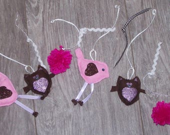 Set of 6 items to hang mobile - customizable