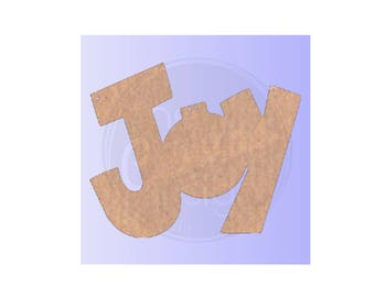 JOY - Blank - Unfinished Wood Cutout - DIY - Wreath Accent, Door Hanger, Ready to Paint & Personalize