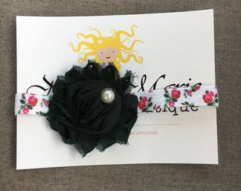 Forest Green Floral Headband
