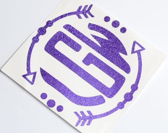 """2"""" Glitter Monogram Decal 