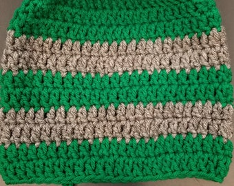 Green and Grey Beanie