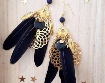 Grandes BO - Les plumes - noir - Gold