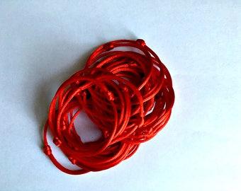 25pcs Friendship Bracelet Red Thread wholesale Red Bracelets kabbalah hamsa hand red string Charm Buddhist bracelet Jewish bracelet