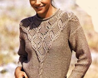 Ladies hand knit sweater / custom