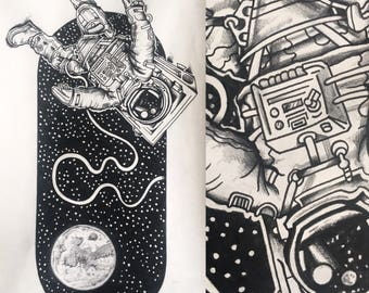 Large Astronaut Drawing